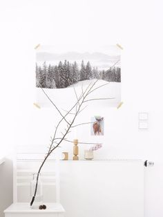 winter styling in my home office by Sabine Wittig