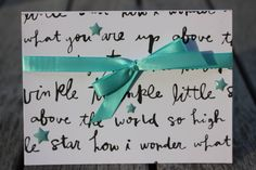 Twinkle Twinkle Little Star Notecard, Nursery Rhyme Notecard, Baby Shower Card, White and Black Twinkle Twinkle Card, Newborn Baby Card by 19Designs on Etsy