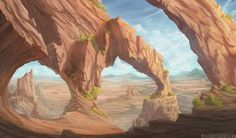 ArtStation - Desert Arches, Mike Greig