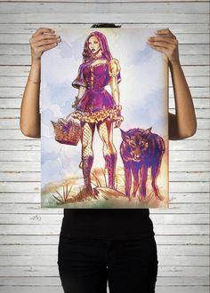 Poster Menina Lobo / Artista Alex Guenther
