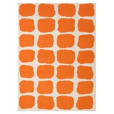 Orange rug  This would look great in my new grandson's room.