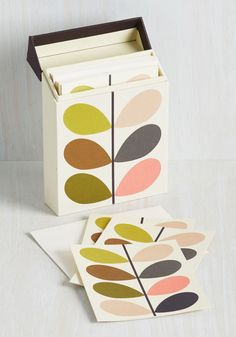 Vine It In Your Heart Notecard Set. Search within for the right words to share with your loved ones, then take the care to jot them in one of these Orla Kiely Notecards. #multi #modcloth