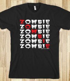 Zombie Zombie Zombie The Walking Dead Undead t-shirt on Skreened