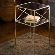Glass Square Side Table.  $179.