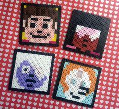 steven universe melting bead | Steven Universe perler bead squares for fun.