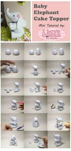 Image: elephant tutorial by I love cakes by Shelia.