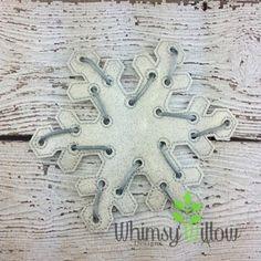 Snowflake Lacing Card