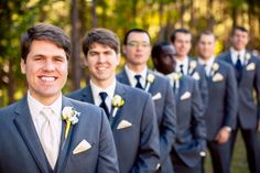 The #handsome + #happy #groom with his #groomsmen. ::Tiffany + Austin's beautifully sophisticated wedding at the Wesley United Methodist Church and Old Medical College of Georgia in Augusta, Georgia:: #suits #weddingfashion #weddingphotography #groupshot #photographyideas