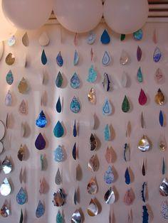 Les enfants ont décoré des gouttes en faisant des bulles avec un mélange liquide vaisselle+ encre violette, bleue, turquoise. Pour faire mo...
