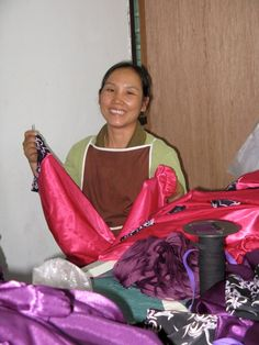 making pajamas! (photo credit to Freedom Fashionistas)