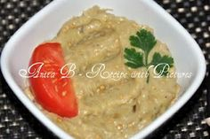 Traditional Recipe With Pictures: Roasted Eggplant Dip Recipe - Salata de Vinete, , Eggplant Dip Recipes, Eggplant Dishes, Roasted Eggplant Salad, Roast Eggplant, Romania Food, My Favorite Food, Favorite Recipes, India Food, Exotic Food