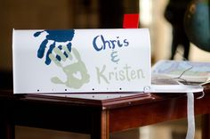 DIY Wedding: We painted a mailbox (super cheap from Menard's) to match the mailbox in Disney's Up. Guests put their cards in the mailbox at the ceremony and reception. #blatchleywedding #disney
