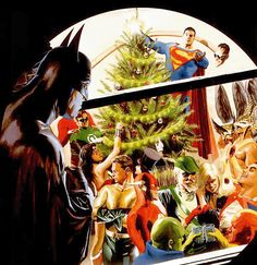 Christmas with the Justice League.  Painted by Alex Ross