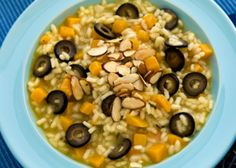 Butternut Squash and Olive Risotto.