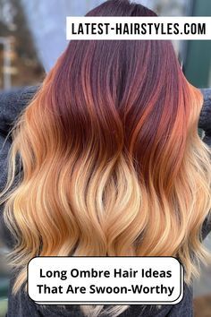 Ready for a hot new ombre you? Check out these swoon-worthy long ombre hair ideas and get inspired for your next trip to the salon! (Photo Credits IG @hairdreams.ny) New Hair Color Trends, Fall Hair Trends, Hair Color For Women, Cool Hair Color, Medium Hair Styles, Natural Hair Styles, Long Hair Styles, Holiday Hairstyles, Cool Hairstyles