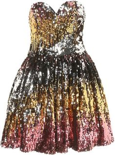 Sequin Strapless Dress. New Years Eve dress. I need a million dollars and a nice party. ;)