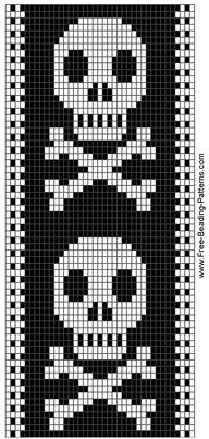 bead loom skull patterns