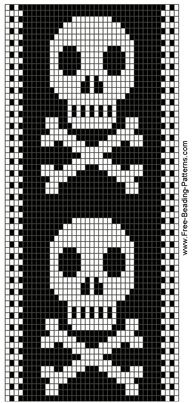 bead loom skull patterns - Google Search