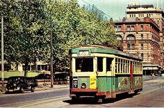 Sydney R1 Tram in Elizabeth Street in the 1950s
