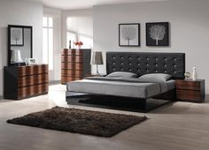 Modern king bedroom sets can be the good things that you can choose if you really adore the classy and also elegant looks. With adding this bedroom sets king bedroom furniture sets, king size bedroom sets, modern bedroom sets Contemporary Bedroom Sets, King Size Bedroom Sets, Bedroom Furniture Stores, Cheap Bedroom Sets, Modern Bedroom Furniture, Luxurious Bedrooms, Cheap Bedroom Furniture, Remodel Bedroom, Interior Design