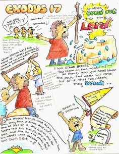 Doodle Through The Bible: Exodus 17. My Faith Art Journal entry for Good Morning Girls (GMG) Bible Study