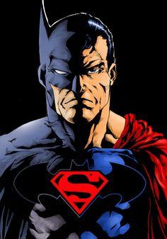 Superman / Batman by Rodrigo Martins dos Santos Pin and follow @Pyra2elcapo