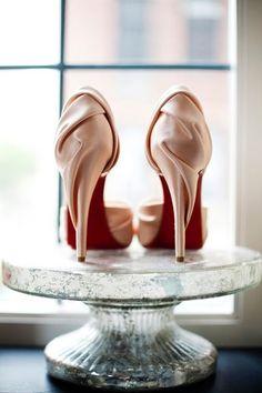 Christian Louboutin wrap silk heels