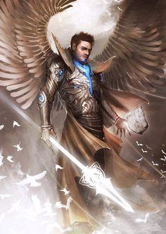 Character art, character design, warrior angel, fantasy warrior, warrior co Fantasy Warrior, Angel Warrior, Character Concept, Character Art, Concept Art, Character Design, Male Angels, Angels And Demons, Fantasy Kunst
