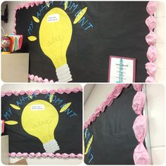 Reflection board: students must write one thing they learned in that day's lesson or how they will use their target speech sound correctly outside of class on a sticky note and put it in the light bulb before they leave!