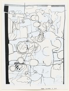 Michael Williams Untitled Puzzle Drawing, pen and collage on paper x cm Carroll Dunham, Puzzle Drawing, Michael Williams, 23 November, Cornelius, Collage, Contemporary, Drawings, Paper