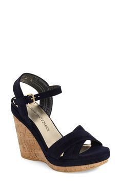 1b3078a7d80e STUART WEITZMAN  Minky  Wedge Sandal (Women).  stuartweitzman  shoes   sandals