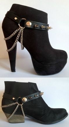 Crafty Lady Abby: SHOE MAKEOVERS: Temporary Additions - the source for the shoe harness i pinned earlier. I love these!