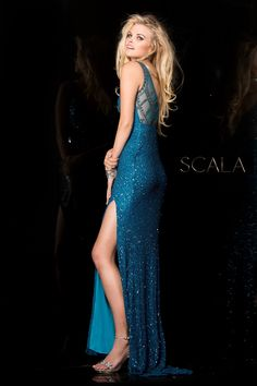 edd8c0107a  SCALA Fall 2016 style 48549 Dark Teal.  scalausa  sequins  gown  fall2k16   hoco2k16  homecomingdress  dress  specialoccasion  sparkle  redcarpet   fall2016 ...