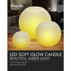 Led Round Candle Trio  flameless candels free shipping for usa canada shipping  please contact us