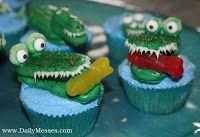 another cupcake, alligators!