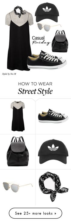 """""""Casual street style"""" by stylesbyneo on Polyvore featuring rag & bone, Topshop, Witchery, Converse, StreetStyle, simple, black, blackfriday and ownit"""