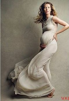Flowing dress | Gisele Bundchen | Vogue