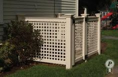 how to build an air conditioner fence - Google Search