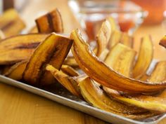 Get Crispy Plantain Chips with Sweet Chile Dipping Sauce Recipe from Food Network