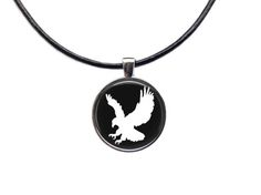 Eagle chain Animal amulet Nature jewelry by blacknwhitenecklace