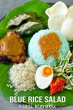 Living outside Malaysia and craving for Nasi kerabu? Try this recipe! I've adapted it for people outside Malaysia who want to enjoy this amazing meal. Nasi Kerabu, Nasi Lemak, Easy Asian Recipes, Healthy Recipes, Ethnic Recipes, Malaysian Food, Malaysian Recipes, Cilantro, Coconut Milk Chicken