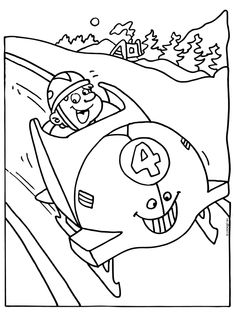 Bobslee Coloring Books, Coloring Pages, Bobsleigh, Winter Olympics, Arts And Crafts, Activities, Fictional Characters, Bible, Sports