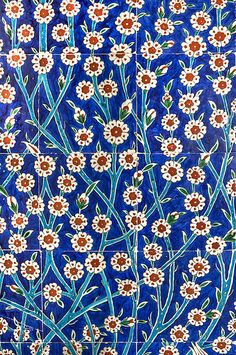 Iznik Tiles In Harem Topkapi Palace Istanbul Print By Ayhan Altun - $22