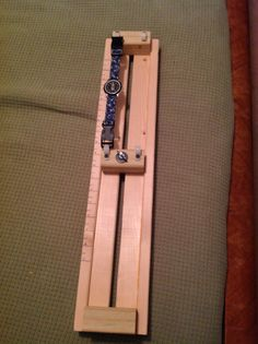 My DIY paracord jig. Only partially done but what I needed for my watchband/bracelets.