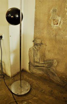 "Wall Mural Illusions – Bar Design Concept & Illustration Bar/Cafe ""Mein Haus am See"", www.studio-wandelbar.com"
