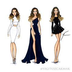 Imagen de drawing and khloe kardashian