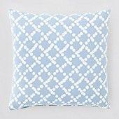 "JR by John Robshaw Tusi Decorative Pillow, 20"" x 20""loke blue with Kapali duvet and sheets"