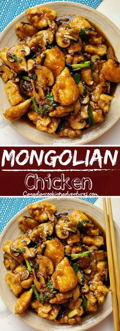 This is the Best Mongolian Chicken recipe! Trust me your going to want to try this one. Chicken Mushroom Recipes, Asian Chicken Recipes, Easy Asian Recipes, Easy Healthy Recipes, Easy Meals, Easy Chicken Meals, Best Chicken Dishes, Sticky Chicken, Chicken Thigh Recipes