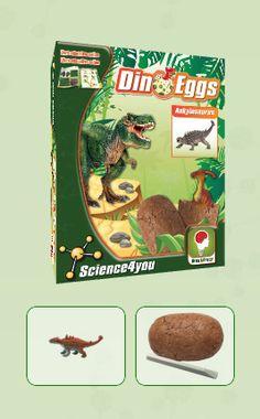 DINO EGGS - ANKYLOSAURUS  Descobre: - O habitat dos dinossauros - O que é a paleontologia - Que tipos de fossilização existem - As causas de extinção dos dinossauros - Características e curiosidades destes fantásticos seres pré-históricos