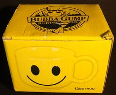 Bubba Gump Shrimp Co. 12 oz Stupid Is As Stupid Does Mug Cup Yellow Smiley Face